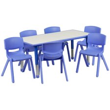 7 Piece Rectangular Activity Table
