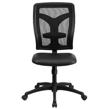 High-Back Conference Chair with Padded Leather Seat