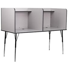 Double Wide Study Carrel Desk