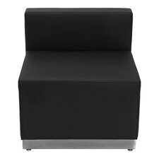 Hercules Alon Series Leather Reception Chair with Stainless Steel Base