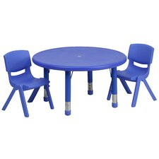 3 Piece Round Activity Table & Chair Set