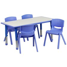 5 Piece Rectangular Activity Table