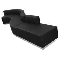 Hercules Alon 5 Piece Leather Reception Configuration Set