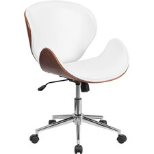 Mid-Back Leather Conference Chair with Swivel