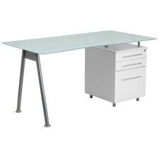 Computer Desk with 3 Drawer Pedestal