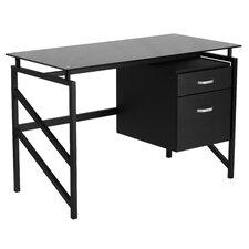 Computer Desk with 2-Drawer Pedestal