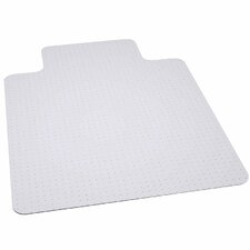 Big and Tall Carpet Straight Edge Chair Mat with Lip