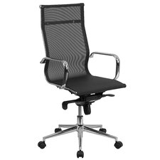 High-Back Mesh Swivel Conference Chair with Synchro-Tilt Mechanism