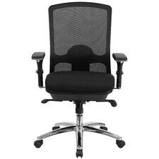 Hercules Series Mid-Back Mesh Swivel Chair with Synchro-Tilt