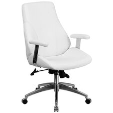 Mid-Back Leather Executive Swivel Chair