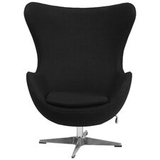 Wool Fabric with Tilt-Lock Mechanism Lounge Chair