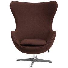 Wool Fabric with Tilt-Lock Mechanism Lounge Chair