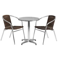 Round 3 Piece Bistro Dining Set