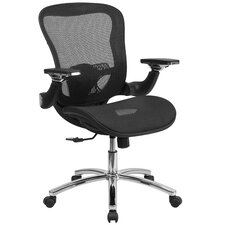 Mid-Back Mesh Chair with Synchro-Tilt And Height Adjustable Flip-Up Arms