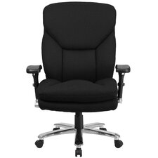 Hercules Series Swivel Chair with Lumbar Support Knob