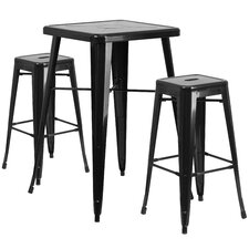 3 Piece Bar Table Set