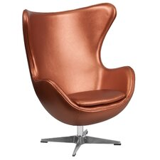 Leather Egg Lounge Chair