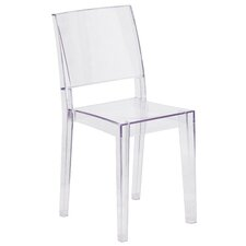 Armless Phantom Series Transparent Stacking Chair