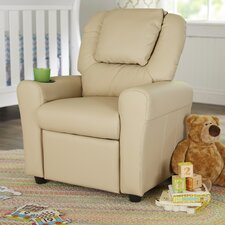 Contemporary Personalized Kids Recliner with Cup Holder