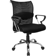 Mid-Back Mesh Conference's Conference Chair with Padded Seat