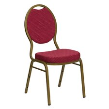 Hercules Series Teardrop Back Stacking Banquet Chair With Silver Vein Frame