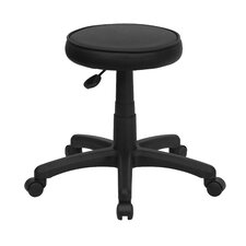 Height Adjustable Backless Stool with Dual Wheel