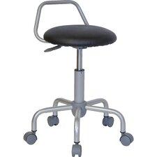 Height Adjustable Stool with Raised Bar Backrest