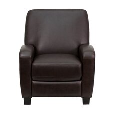 Brown Push Back Office Recliner