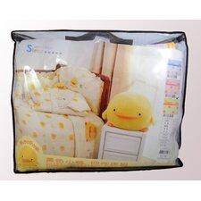 Four Piece Cradle Bedding Set in Pink