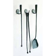 Ferro and Fuoco 3 Piece Iron Fireplace Tools