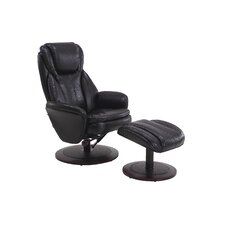 Cush Breathable Swivel Recliner and Ottoman