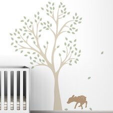 Trees Fawn Wall Decal