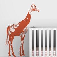 Fauna Baby Floral Giraffe Wall Decal