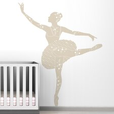 Black Label Ballerina Wall Decal