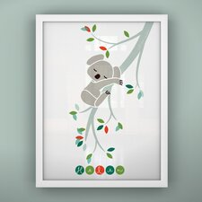 Print Sleepy Koala Unframed Art