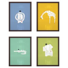 4 Piece Royal Safari Paper Print Set