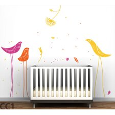 Color Block Carnival Birds Wall Decal