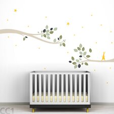 Tree Branches Follow the Little Rabbit Wall Decal