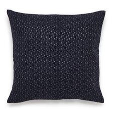 Shibori Embroidered Cotton Throw Pillow