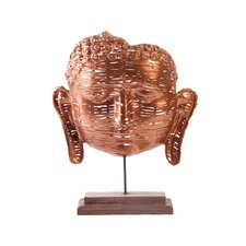 Copper Woven Buddha Face Bust