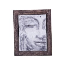 Antique Concrete Buddha Relief Wall Décor