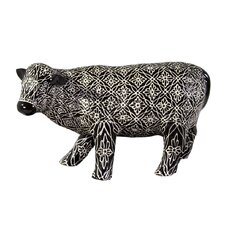 Patterned Cow Piggy Bank