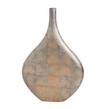 Copper Patina Flat Vase