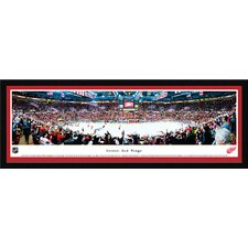 NHL Detroit Red Wings by James Blakeway Framed Photographic Print