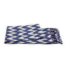 Handmade Ikat Throw Blanket