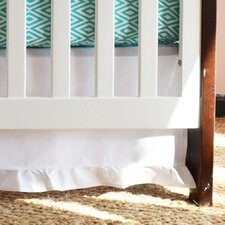 Pure White Gathered Crib Skirt