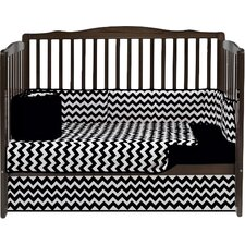 Chevron 4 Piece Crib Bedding Set