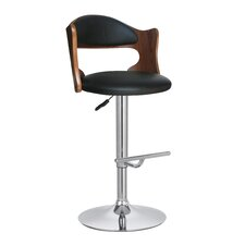 Bailey Adjustable Height Swivel Bar Stool with Cushion