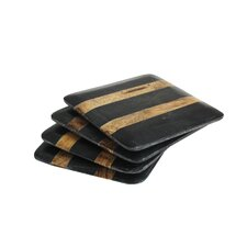 Marble Wooden Stripes Coaster