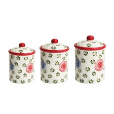 3 Piece Berries Canister Set